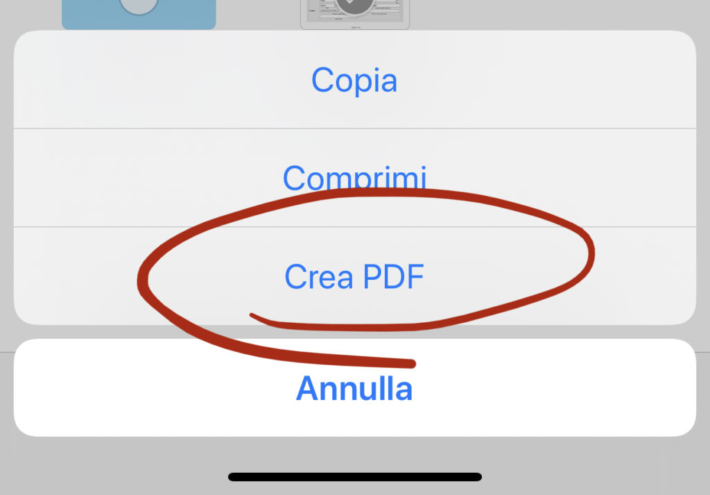 """Utilizzare la funzione """"Crea PDF"""" di iOS"""