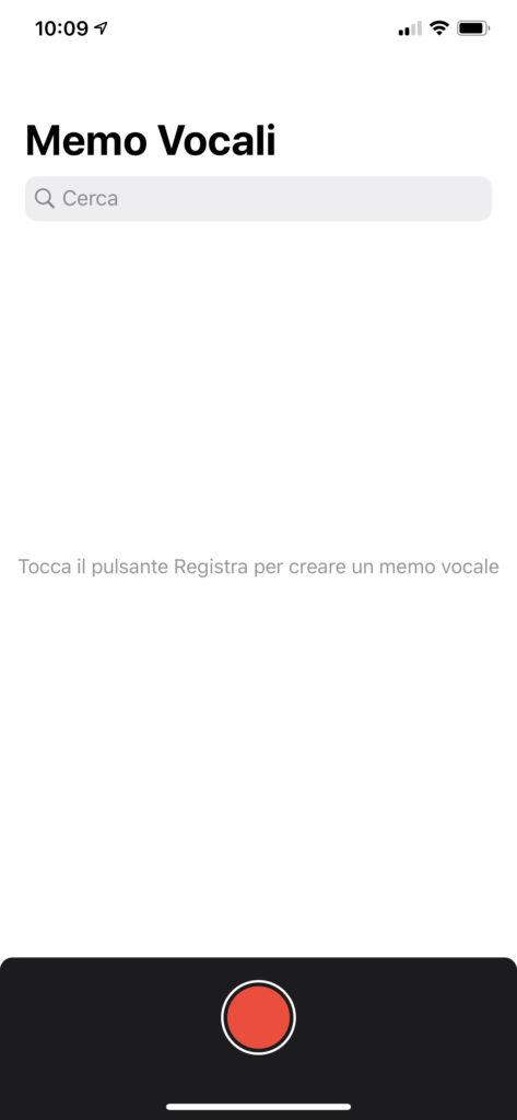 Registrare audio con iPhone