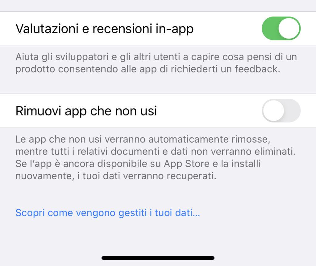 Ottimizzare la memoria di iPhone eliminando automaticamente le app