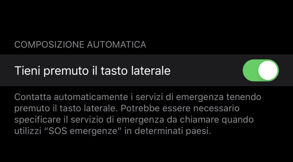 Modificare la chiamata di emergenza su Apple Watch