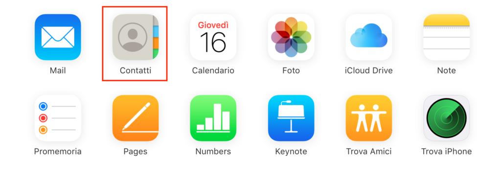 Utilizzare il sito di iCloud