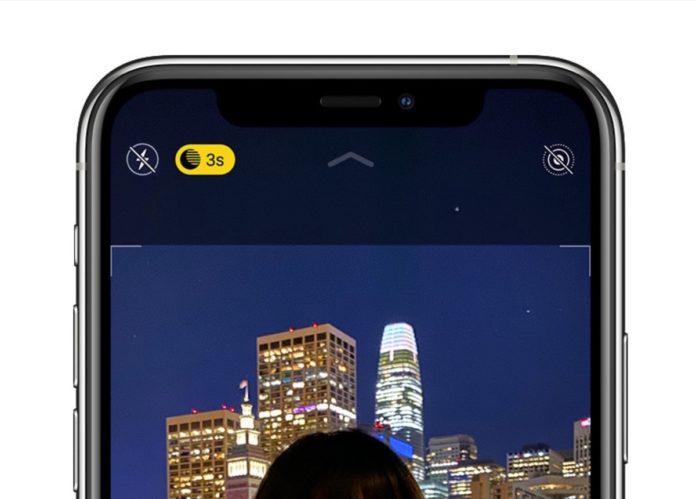 Utilizzare la modalità notte di iPhone 11