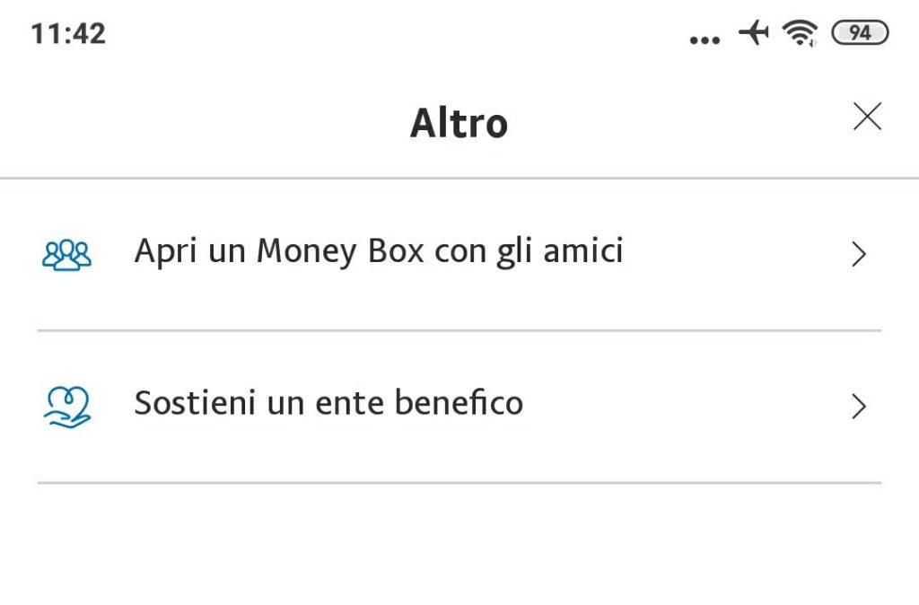 Creare Money Box dall'app di PayPal