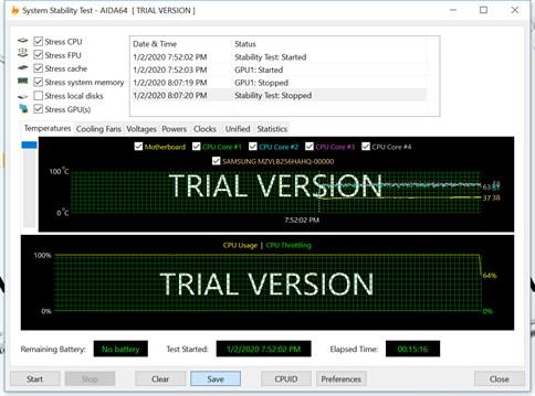 Recensione MSI Trident X Plus Benchmark Aida64