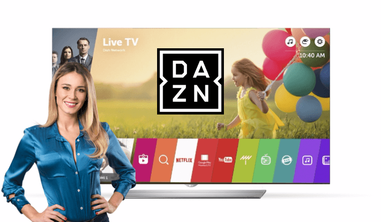 Come vedere DAZN su Smart TV