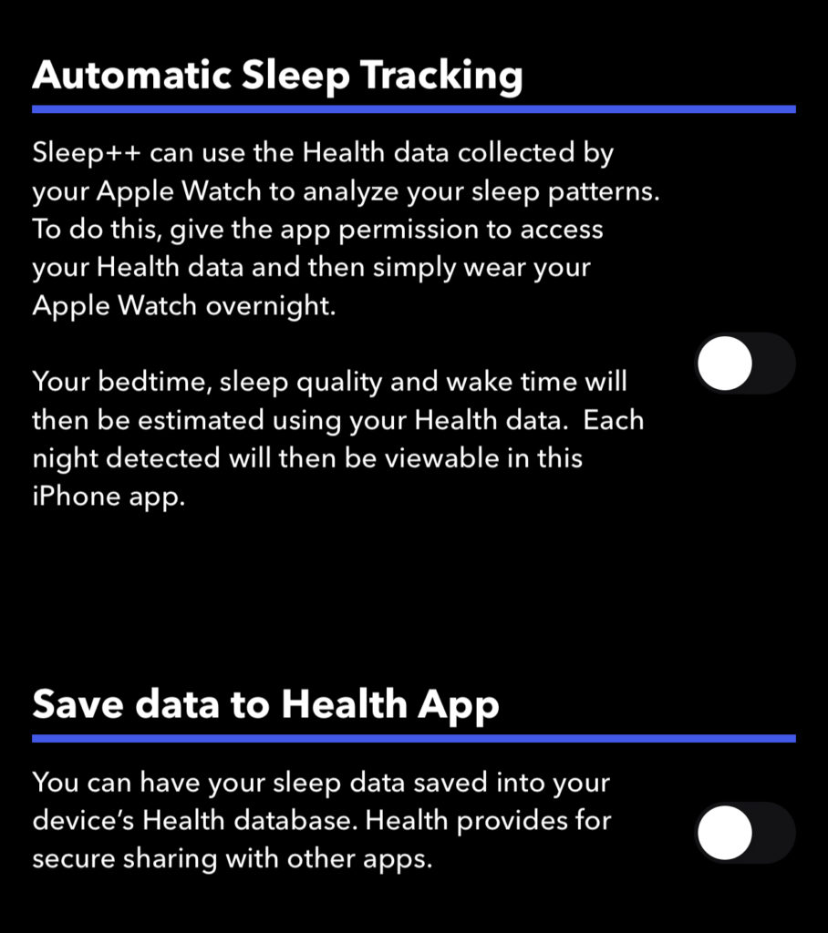 Utilizzare l'app Slepp++ per tracciare il sonno con Apple Watch