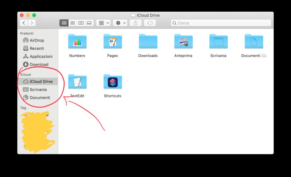 Rimuovere dati da iCloud da Mac