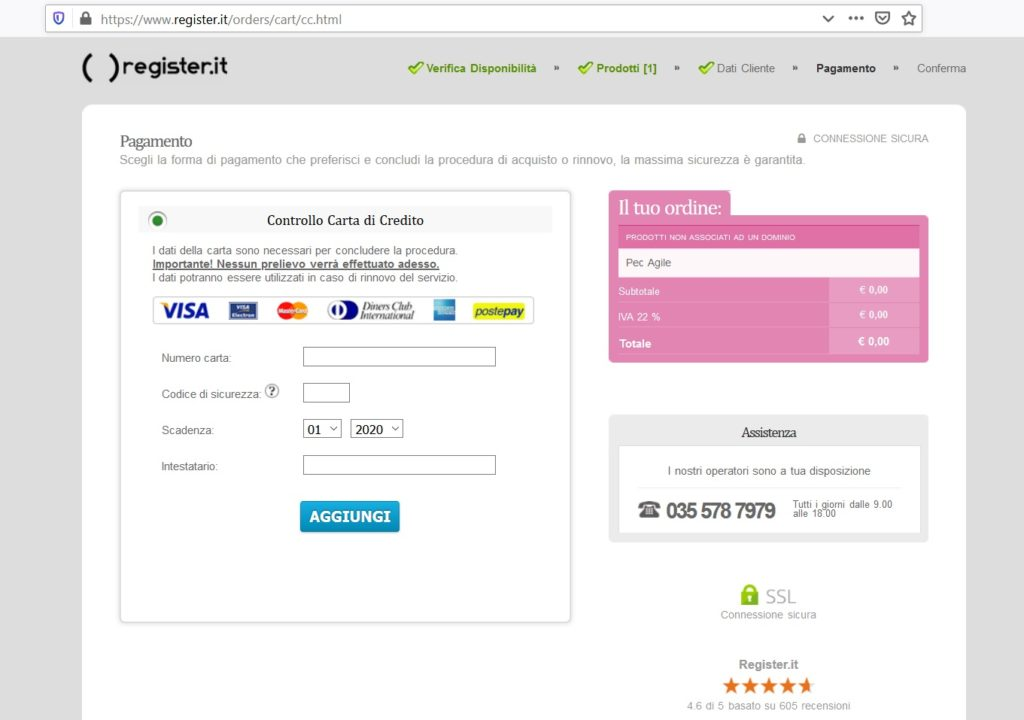 register.it registrazione