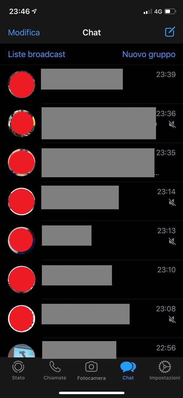 Come attivare la Dark Mode (tema scuro) su WhatsApp per iPhone