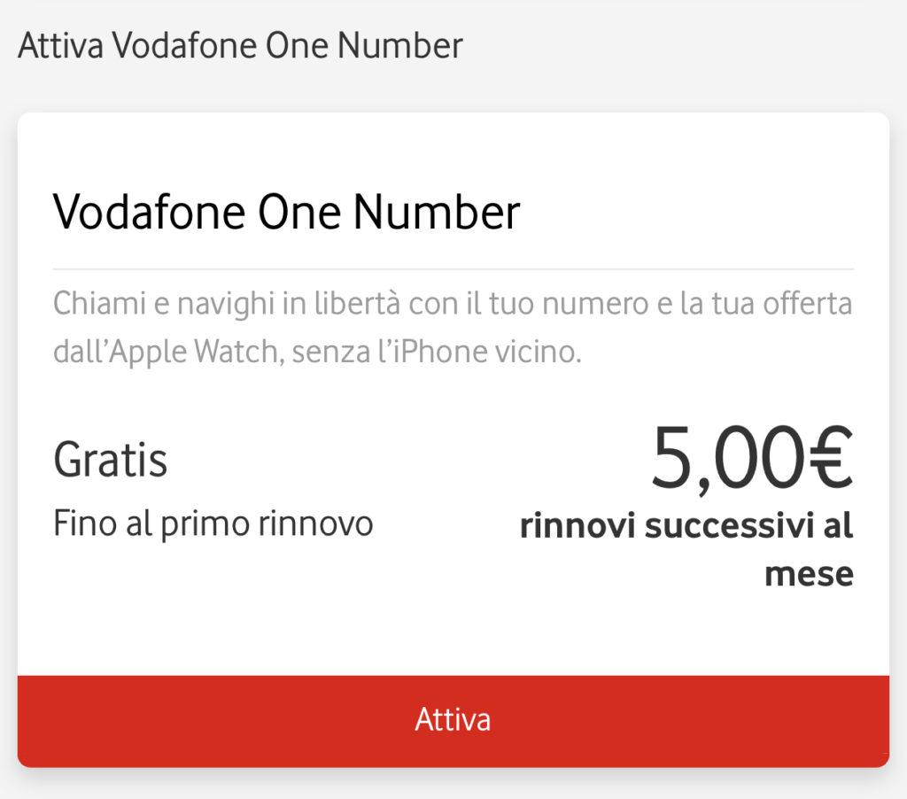 Configurare piano cellulare con l'app di Vodafone