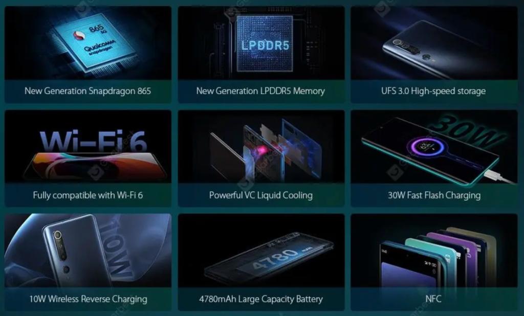 Caratteristiche tecniche Xiaomi Mi 10