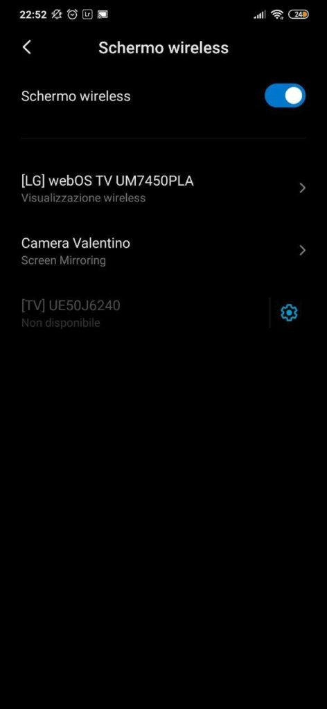 Come collegare Android alla TV