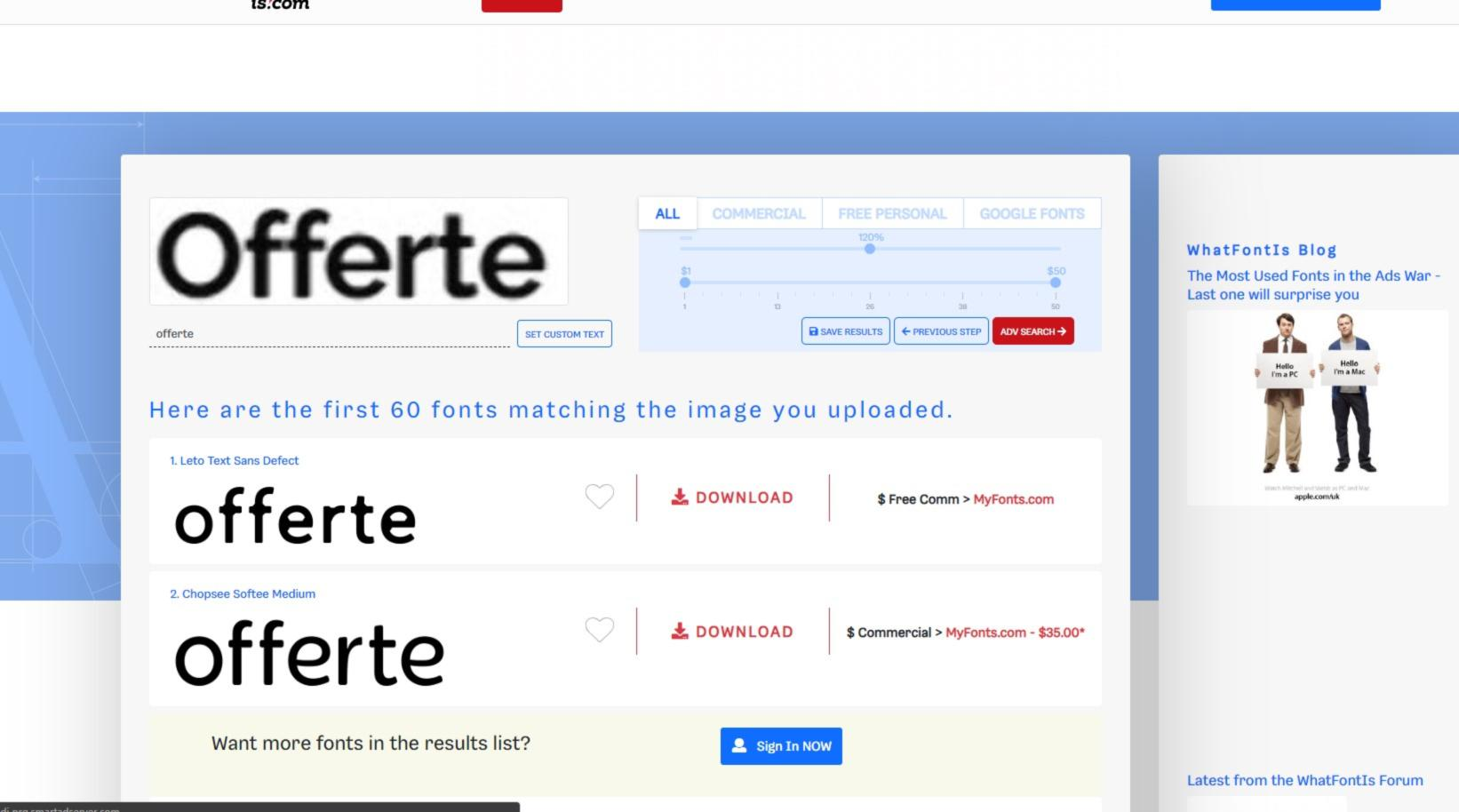 Come identificare e riconoscere un fonta da una immagine 6