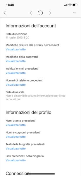 Controllare dati Instagram smartphone