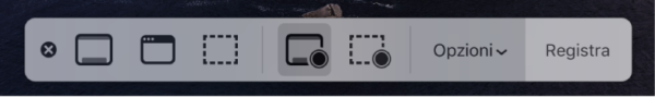 Registrare lo schermo in QuickTime Player sul Mac