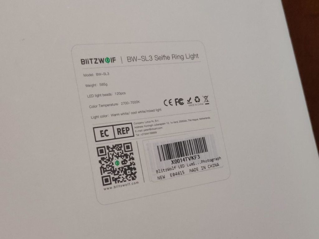 BlitzWolf Light Ring