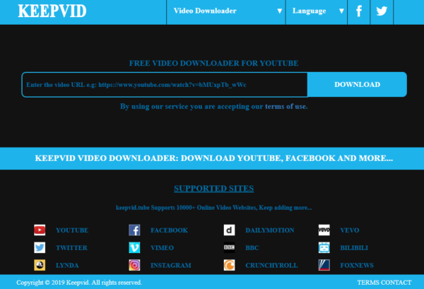 keepvideo scaricare video internet
