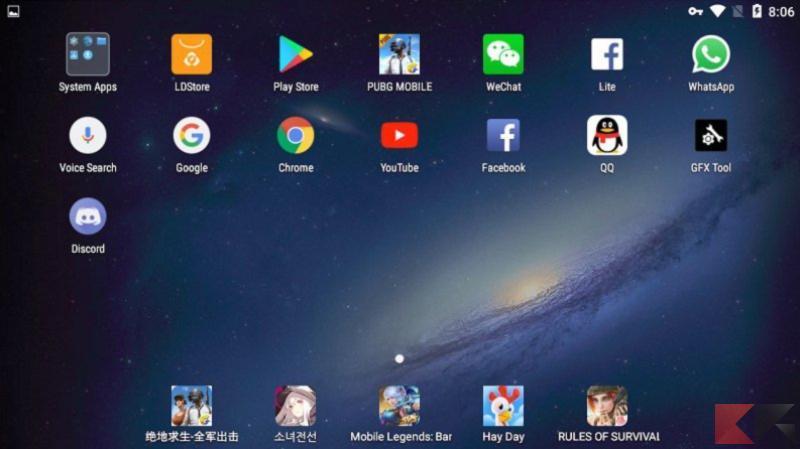 Emulatore Android per Windows 10