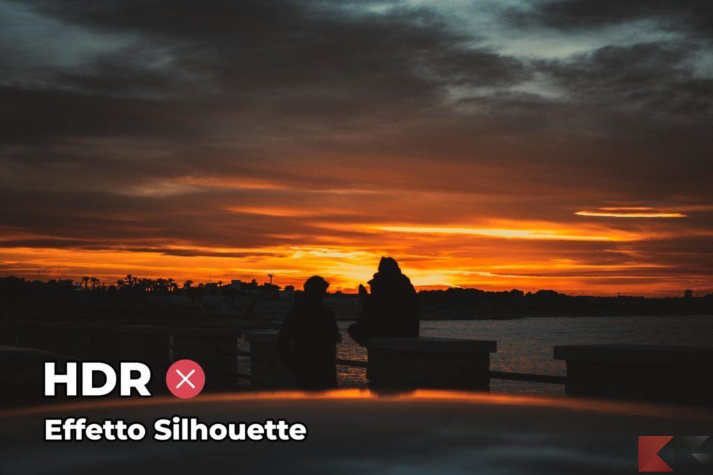 Fotografia HDR - effetto silhouette