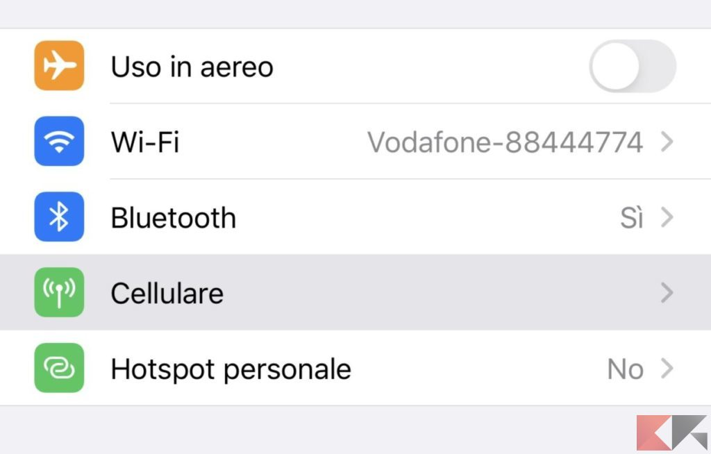 Come usare iPhone come modem 1