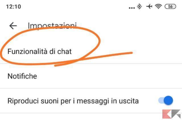 Funzionalità di chat