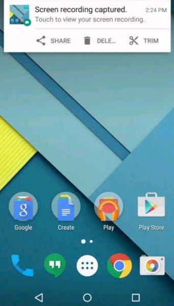 adv registrare schermo android