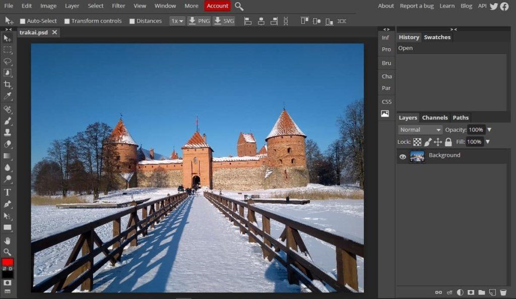 photopea modificare foto online