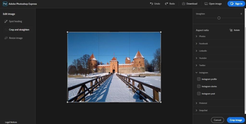 photoshop express modificare foto online