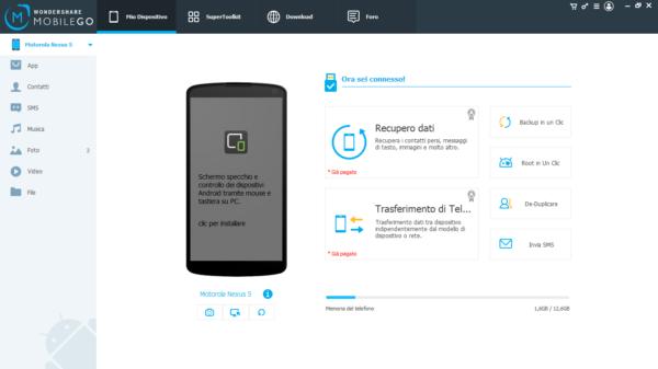 mobilego dati schermo rotto android