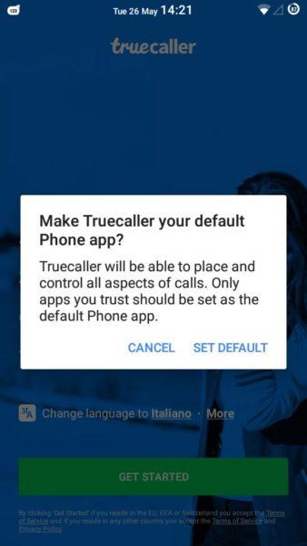 truecaller bloccare chiamate android