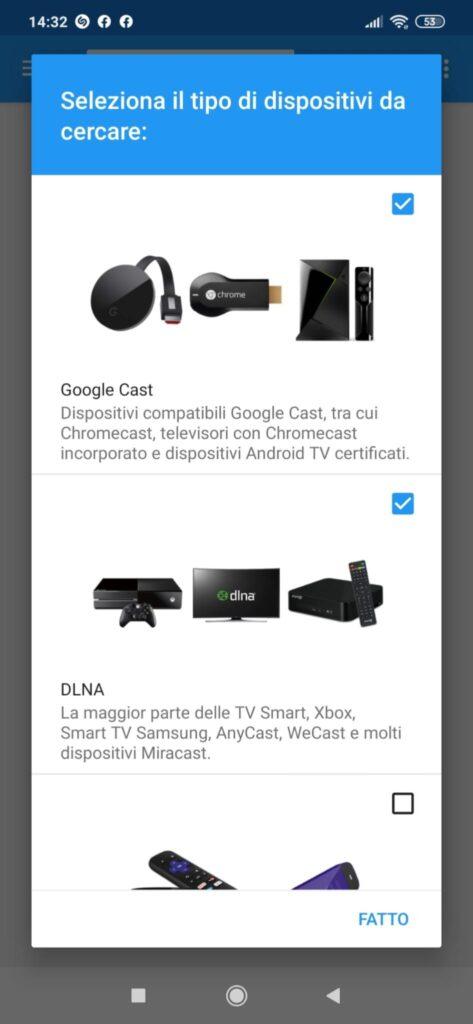 Configurare Web Video Cast