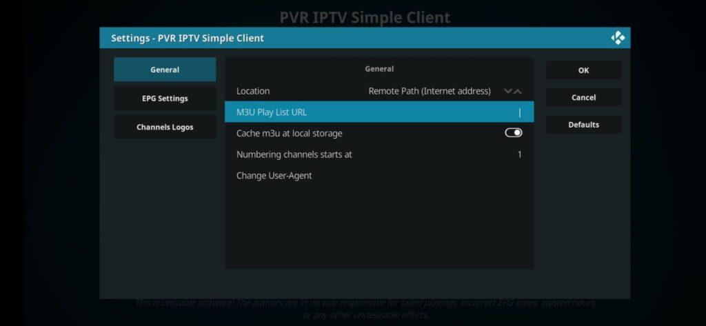 Inserire lista IPTV Kodi