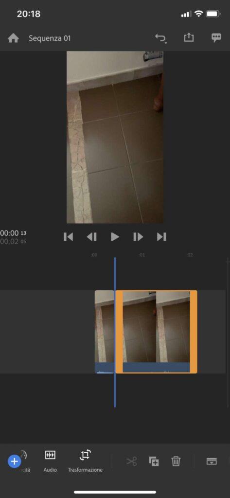 Ritagliare video Premiere