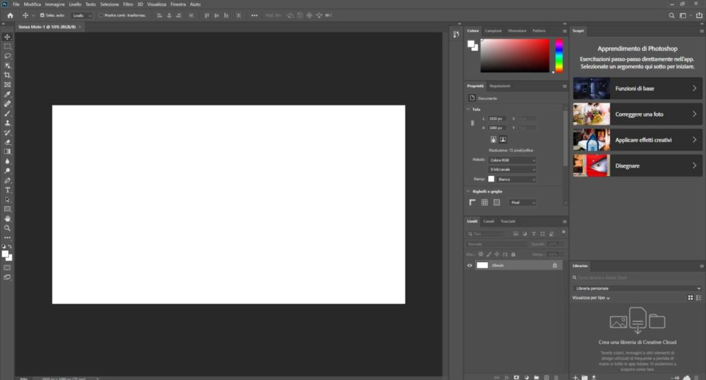Schermata Photoshop