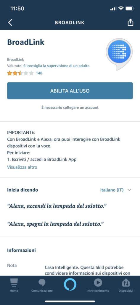 Skill Alexa Broadlink