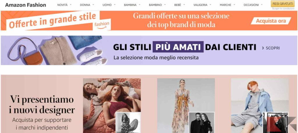 amazon fashion, consegna rapida e resi gratuiti, garanzia Amazon