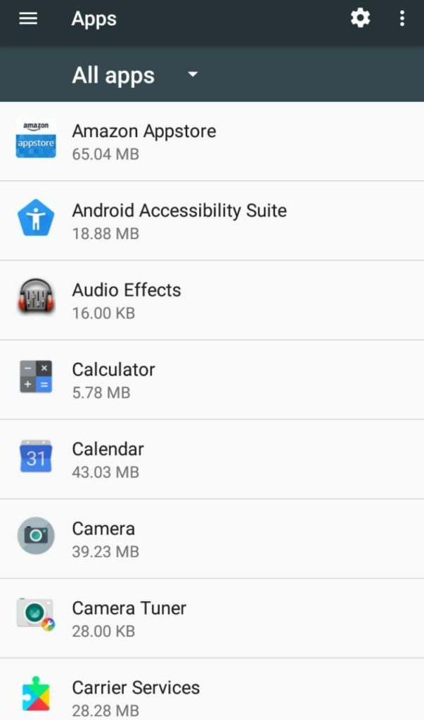 vedere app installate android