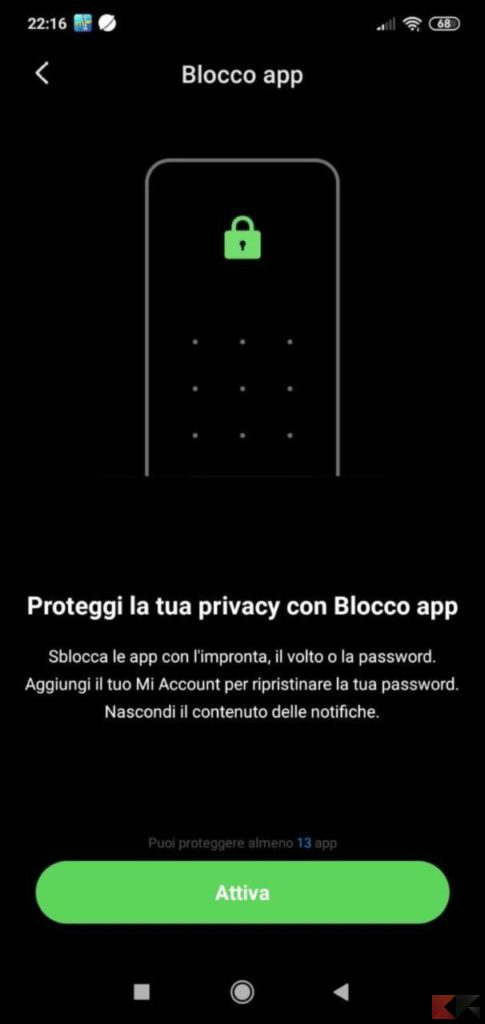 bloccare app android