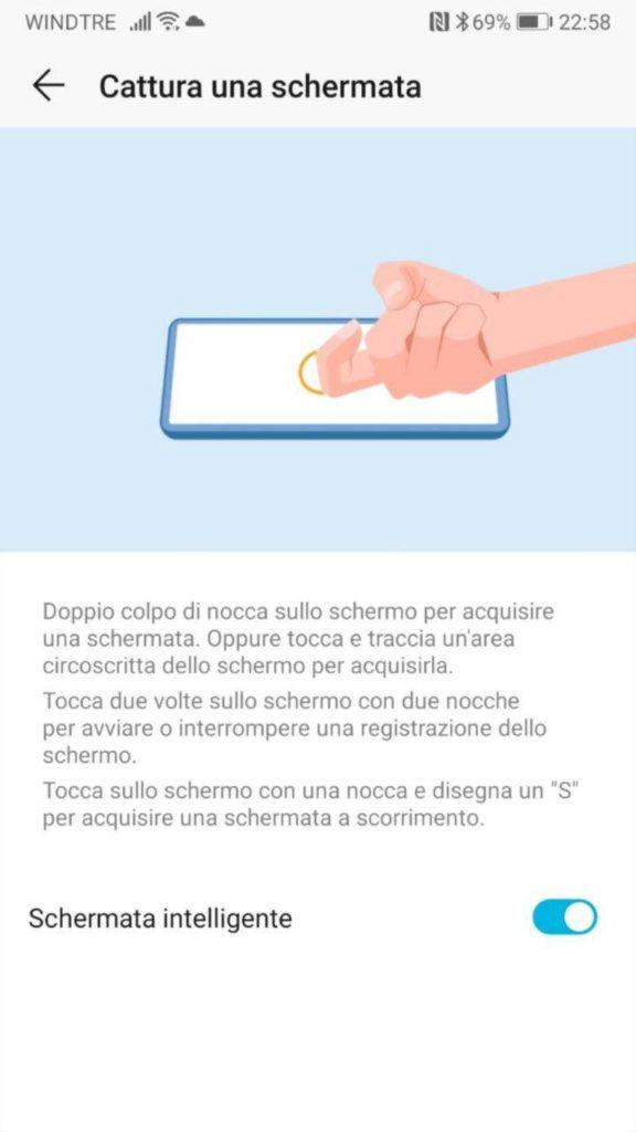 come fare screenshot Huawei 2