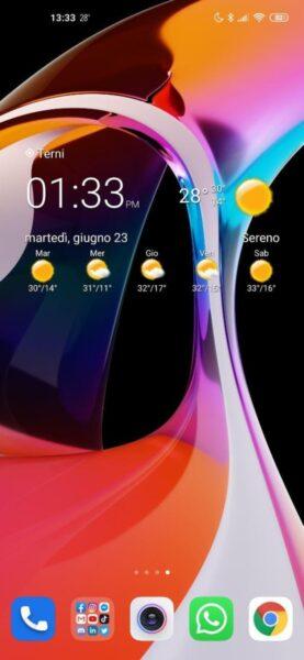 orologio e meteo trasparente widget