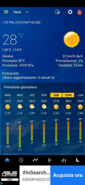orologio e meteo trasparente app