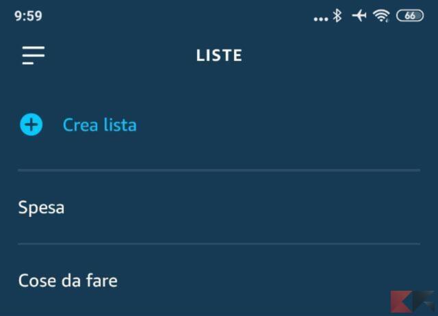 Come creare una lista della spesa con Alexa 1