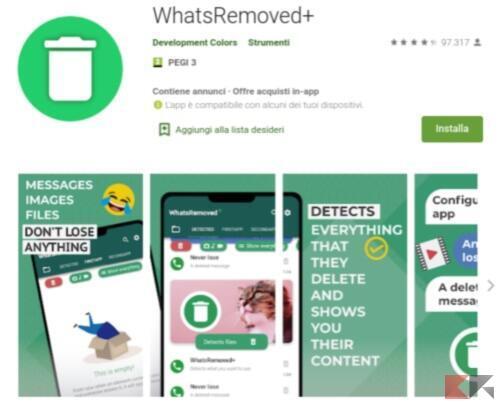 vedere messaggi eliminati whatsapp