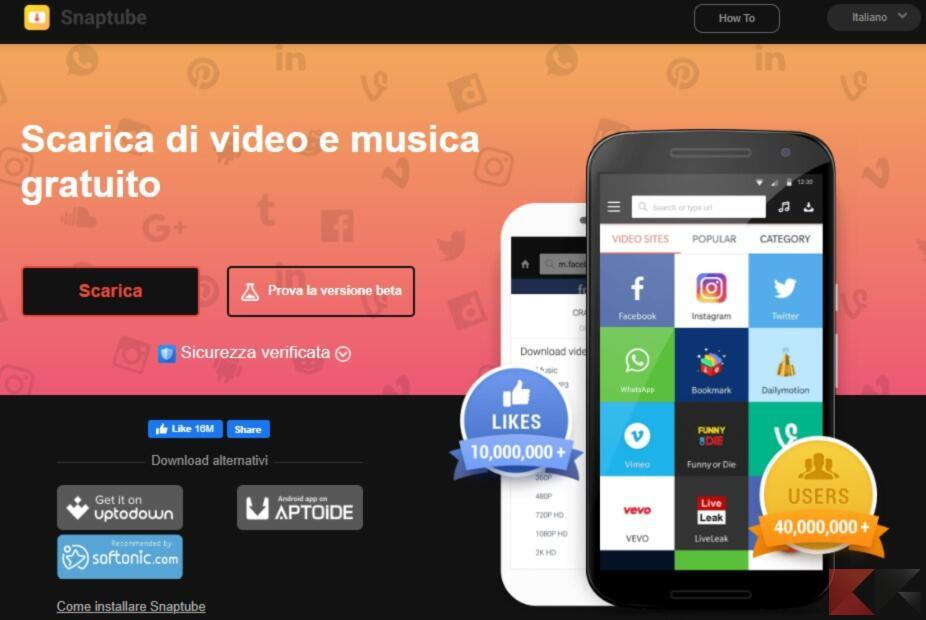 scaricare video youtube android