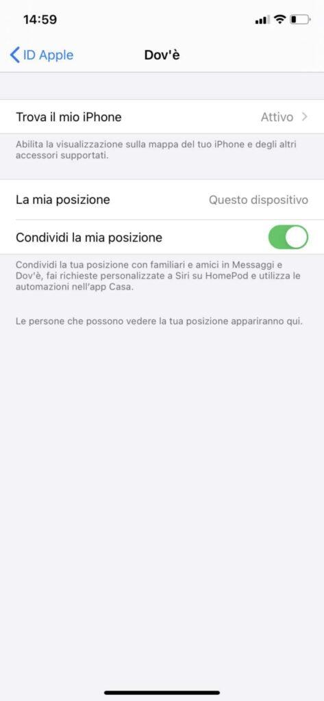Localizzare iPhone