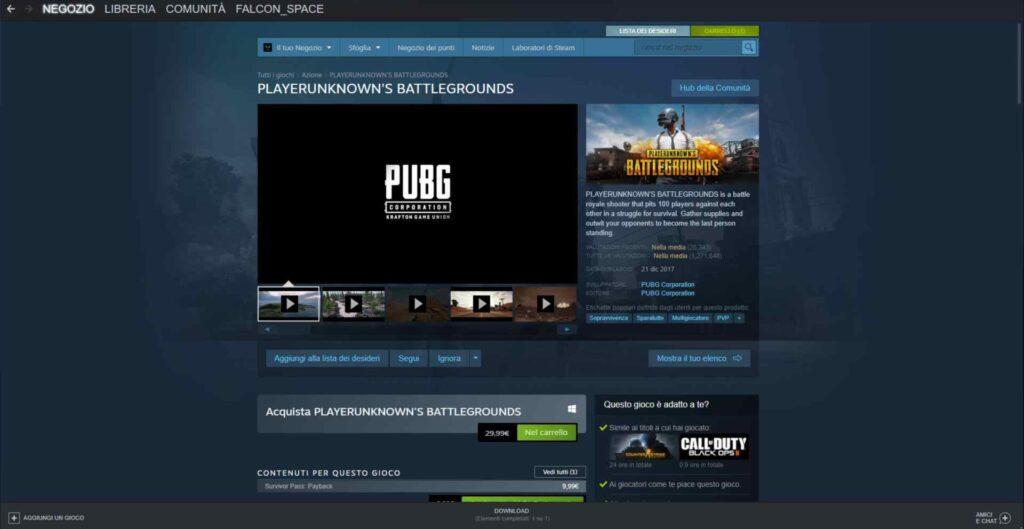 PUBG Steam