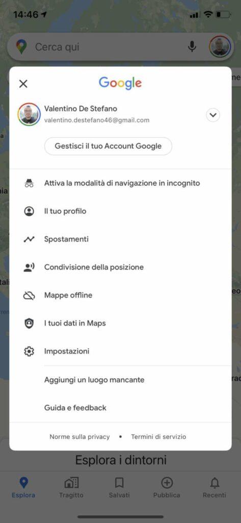 Posizioni Google Maps