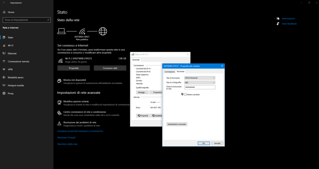 Trovare password Wi-Fi Windows 10