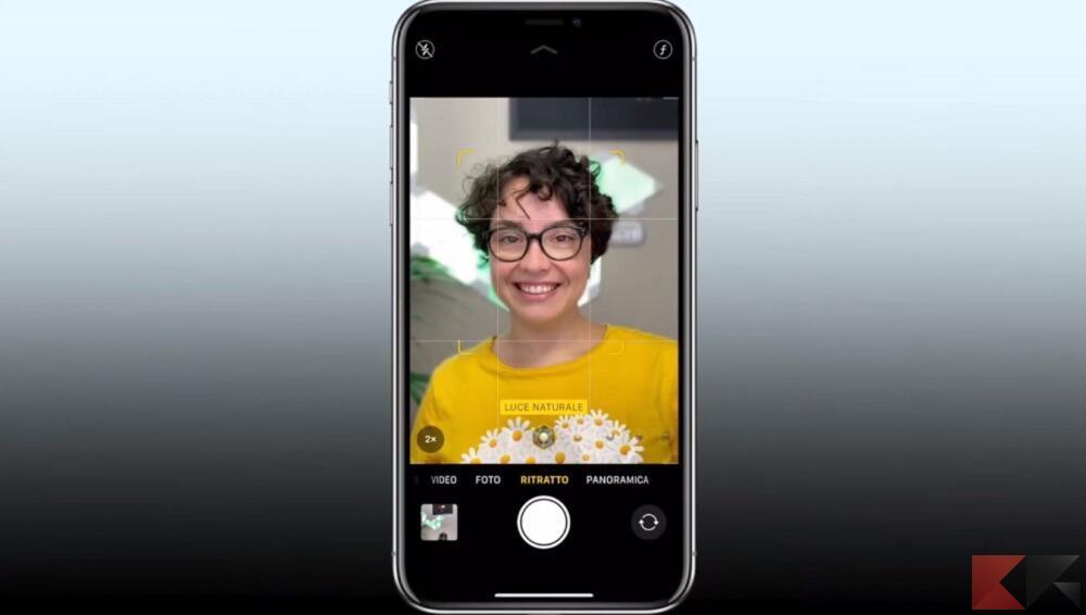 modalità ritratto iphone