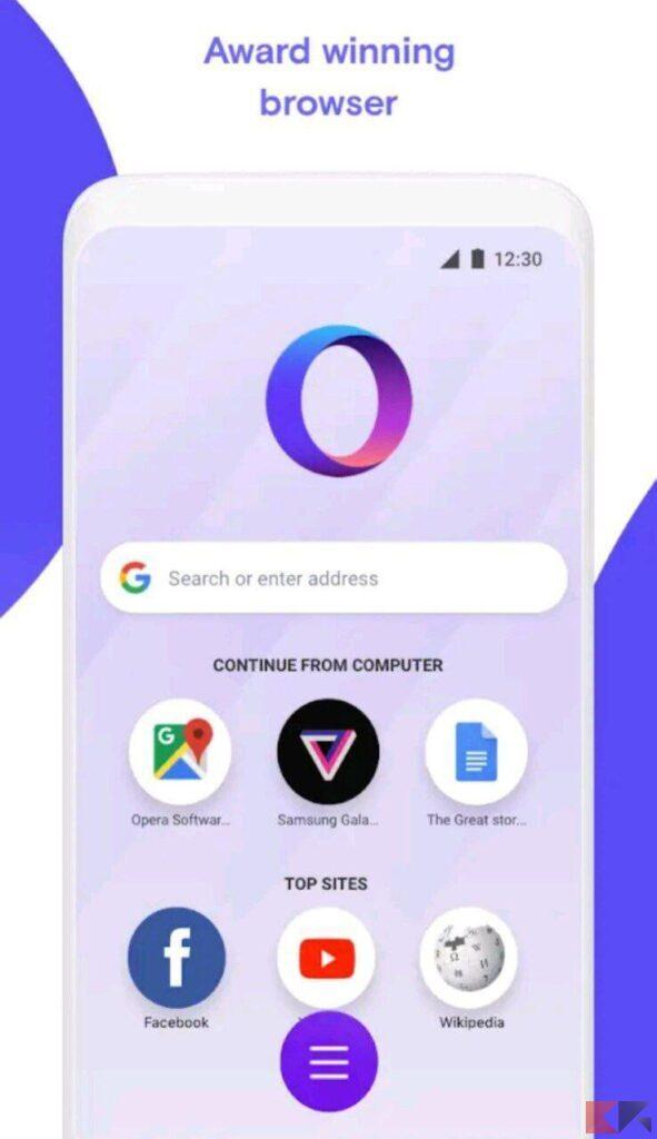 migliori browser leggeri android